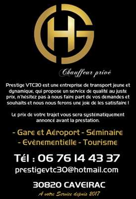 Exemple Taxi n°273 zone Gard par Prestige VTC30